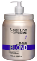 STAPIZ Maska do włosów blond 1000ml Sleek Line Blond